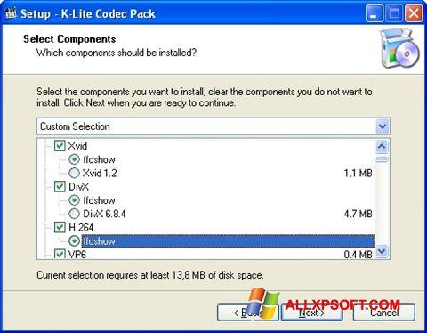 Скріншот K-Lite Codec Pack для Windows XP