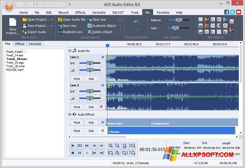 Скріншот AVS Audio Editor для Windows XP