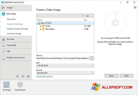Скріншот DAEMON Tools Lite для Windows XP