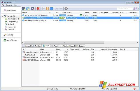 Скріншот BitTorrent для Windows XP