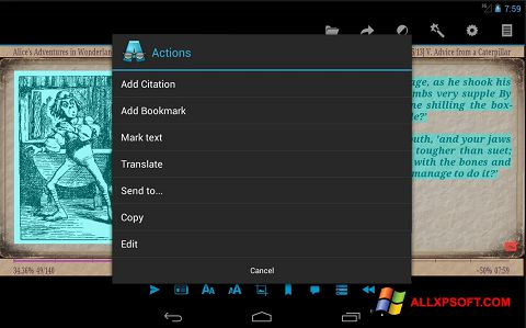 Скріншот AlReader для Windows XP