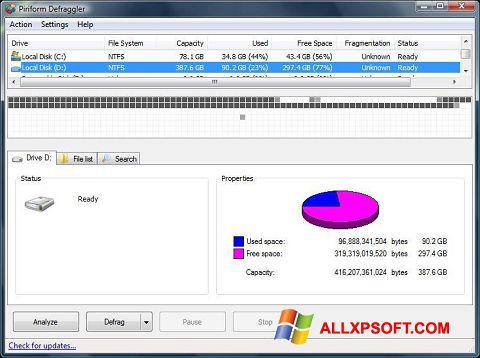Скріншот Defraggler для Windows XP