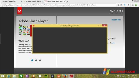 Скріншот Adobe Flash Player для Windows XP