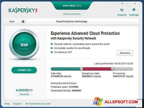 Скріншот Kaspersky для Windows XP
