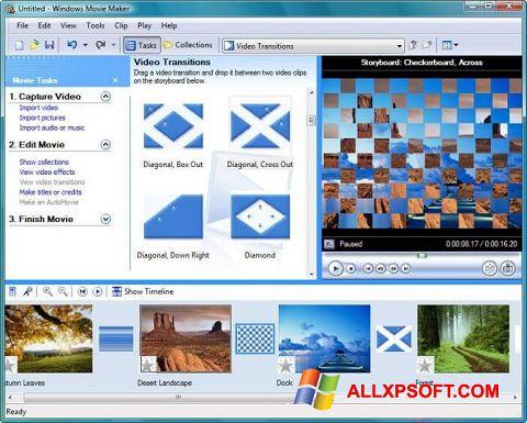 Скріншот Windows Movie Maker для Windows XP