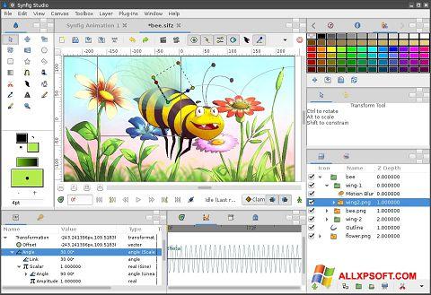 Скріншот Synfig Studio для Windows XP
