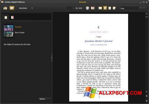Скріншот Adobe Digital Editions для Windows XP