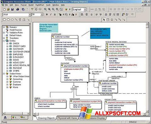 Скріншот ERWin для Windows XP