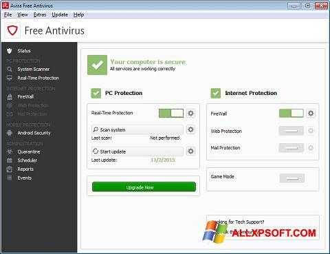 Скріншот Avira Free Antivirus для Windows XP