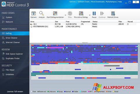 Скріншот Ashampoo HDD Control для Windows XP