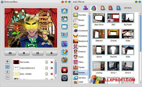 Скріншот WebcamMax для Windows XP