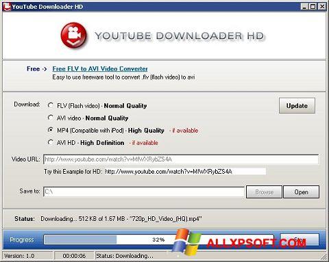 Скріншот Youtube Downloader HD для Windows XP