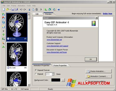 Скріншот Easy GIF Animator для Windows XP