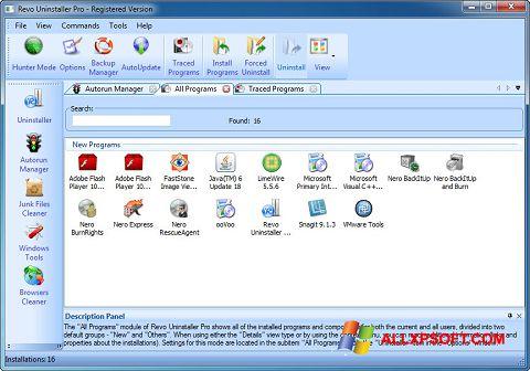 Скріншот Revo Uninstaller Pro для Windows XP